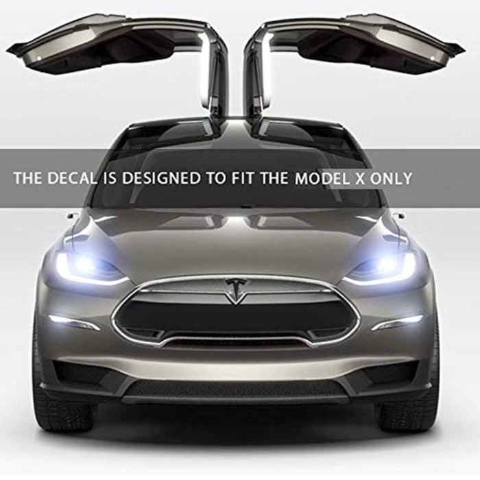 TESLA Front Grill Emblem for Tesla Compatible with Model X Emblems for Grille