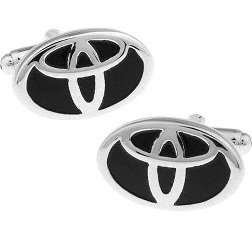2pcs Toyota Logo Men's Shirt Cufflinks
