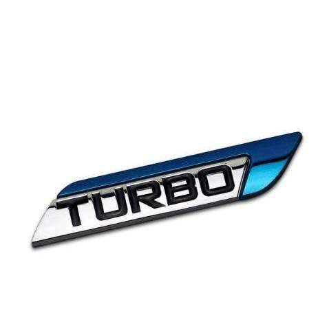 UNIVERSAL TURBO Blue Right/ Left Emblem Sticker Emblems Stickers blue right