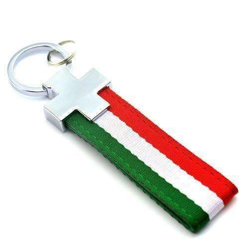 UNIVERSAL Light Italy Flag Keychain Car Keychain