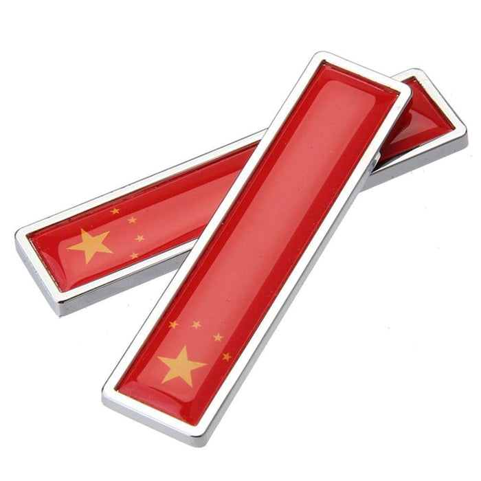 UNIVERSAL 2pcs Flag Emblem Metal Stickers Emblem Stickers China