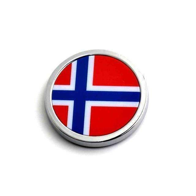 2pcs Norway Flag Emblems