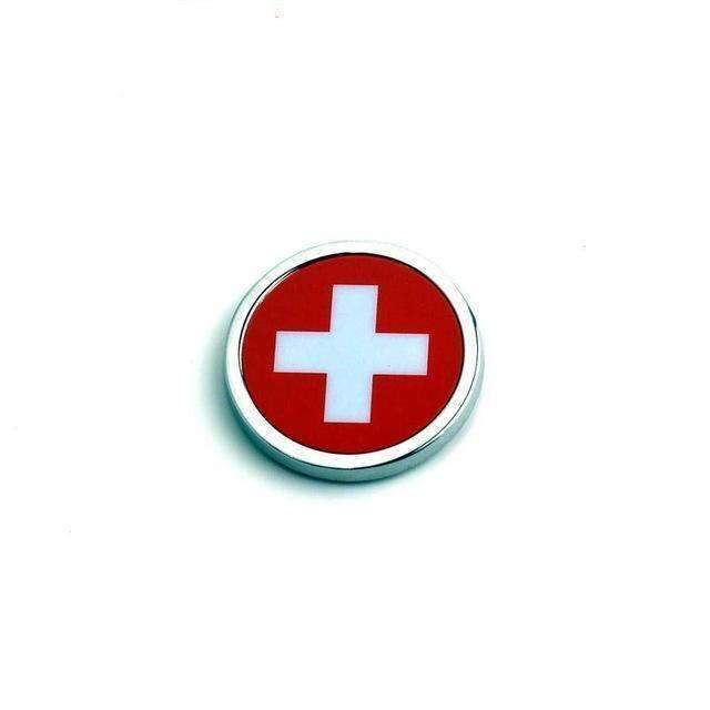 UNIVERSAL 2 Pcs Switzerland Flag Emblems Emblems Stickers