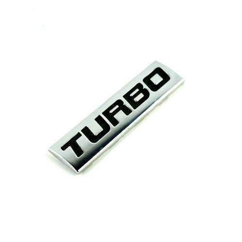 UNIVERSAL 2 Pcs Turbo Black Emblem Stickers Emblems Stickers