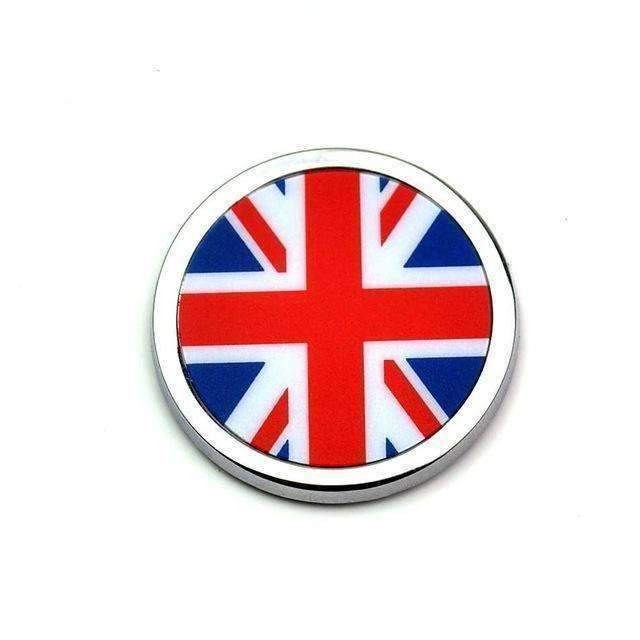 2pcs United Kingdom Flag Emblems - Silber