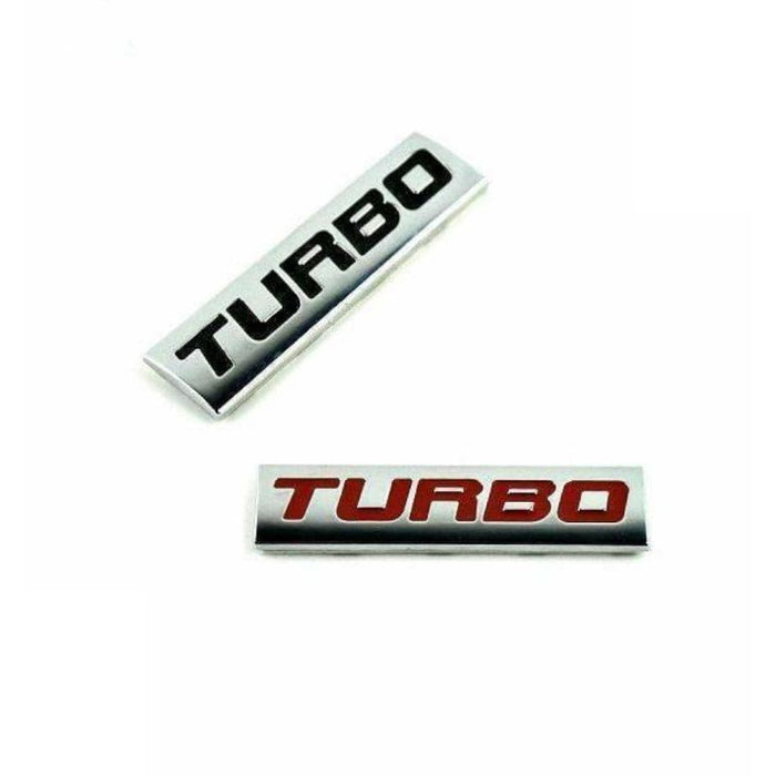 2pcs Turbo Black Emblem Stickers