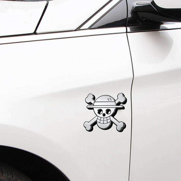 UNIVERSAL 3D Pirate Skull Emblem Sticker Emblems Stickers