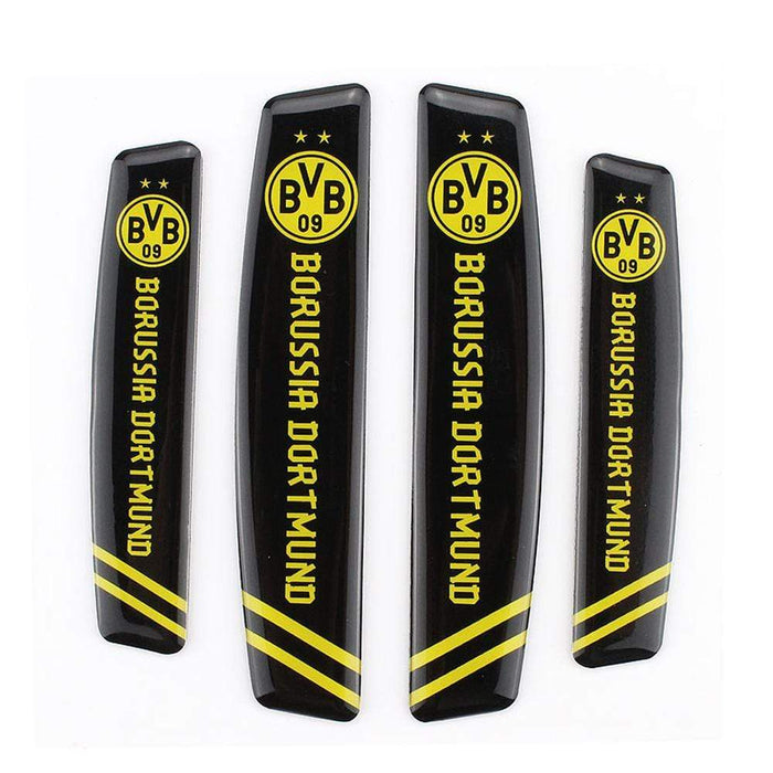 UNIVERSAL 4pcs Borussia Dortmund 09 Football Club Door Edge Protection Stickers Emblems Stickers