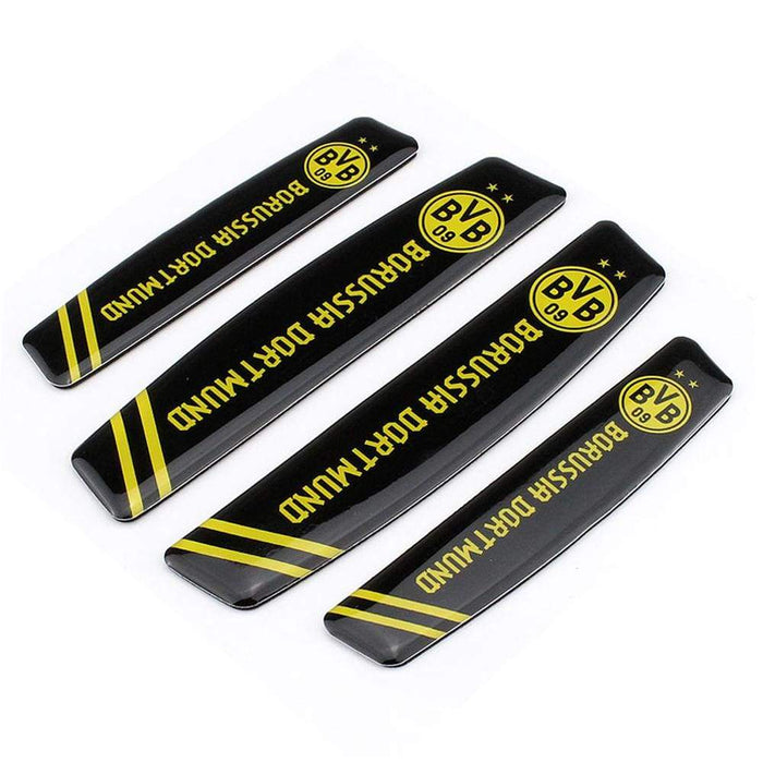 UNIVERSAL 4pcs Borussia Dortmund Football Door Edge Protection Stickers Emblems Stickers