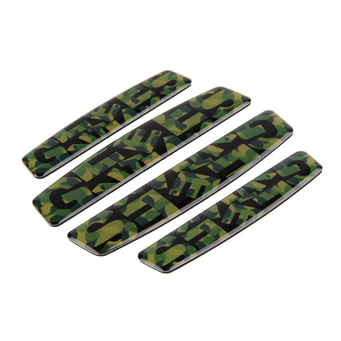 UNIVERSAL 4pcs Camouflage Door Edge Protection Stickers Emblems Stickers