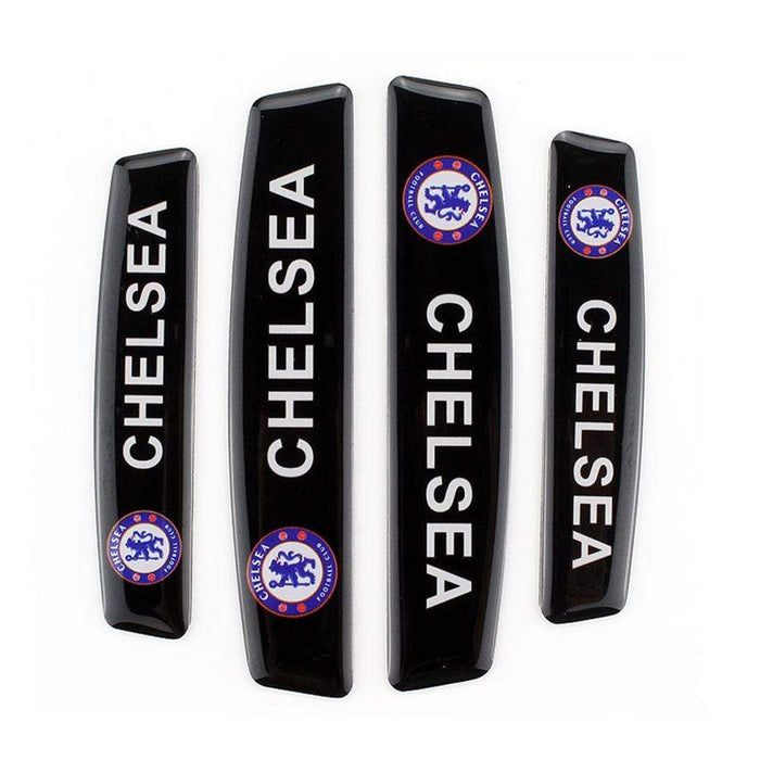 4pcs Chelsea Football Club Logo Door Edge Protection Stickers