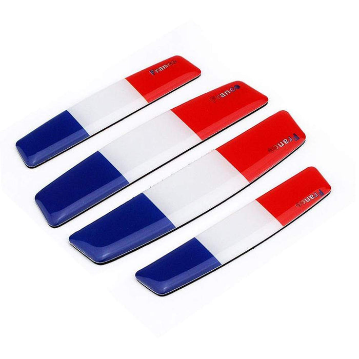 UNIVERSAL 4pcs France National Flag Door Edge Protection Stickers Emblems Stickers