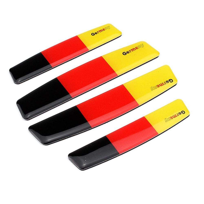 UNIVERSAL 4pcs Germany National Flag Door Edge Protection Stickers Emblems Stickers