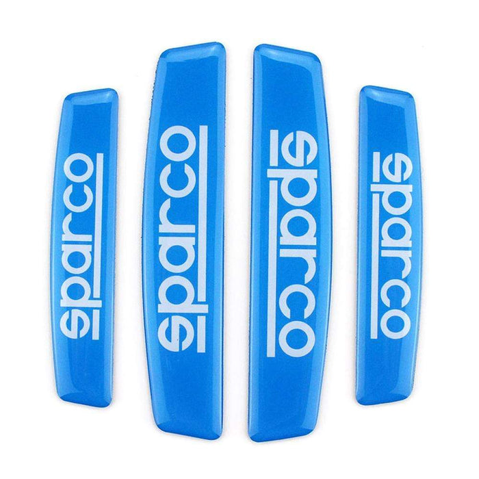 UNIVERSAL 4pcs Sparco Nameplate Door Edge Protection Stickers Emblems Stickers