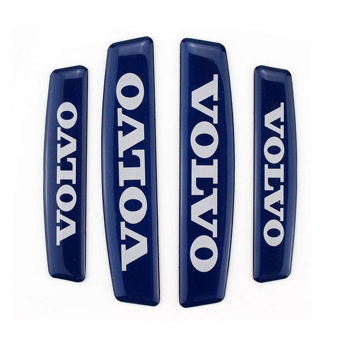 UNIVERSAL 4pcs Volvo Nameplate Door Edge Protection Stickers Emblems Stickers