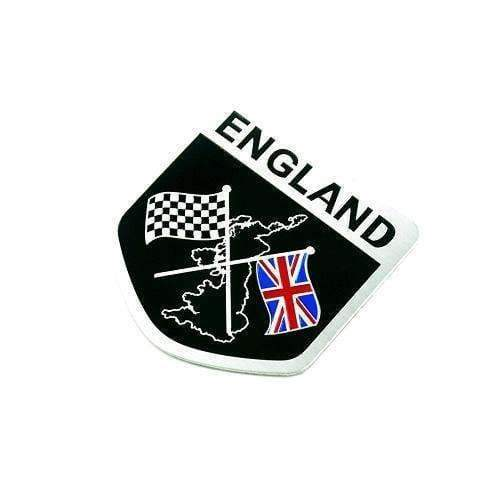 UNIVERSAL Black England Racing Emblem Emblems Stickers
