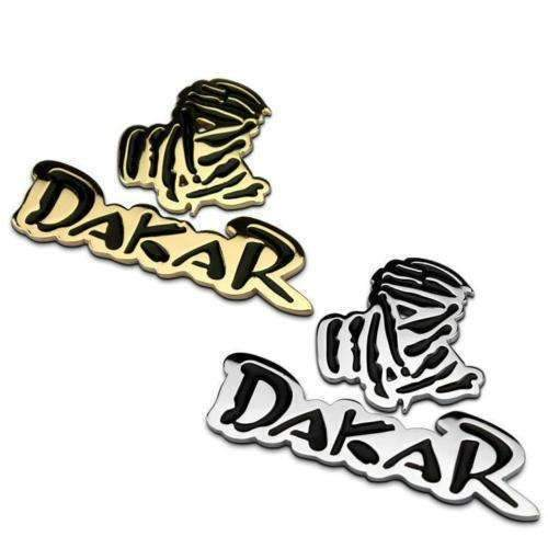 UNIVERSAL Dakar Gold/Silver Metal Sticker Badge Emblems Stickers