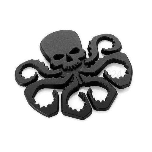 UNIVERSAL Hell Hydra Black Emblem Sticker Emblems Stickers