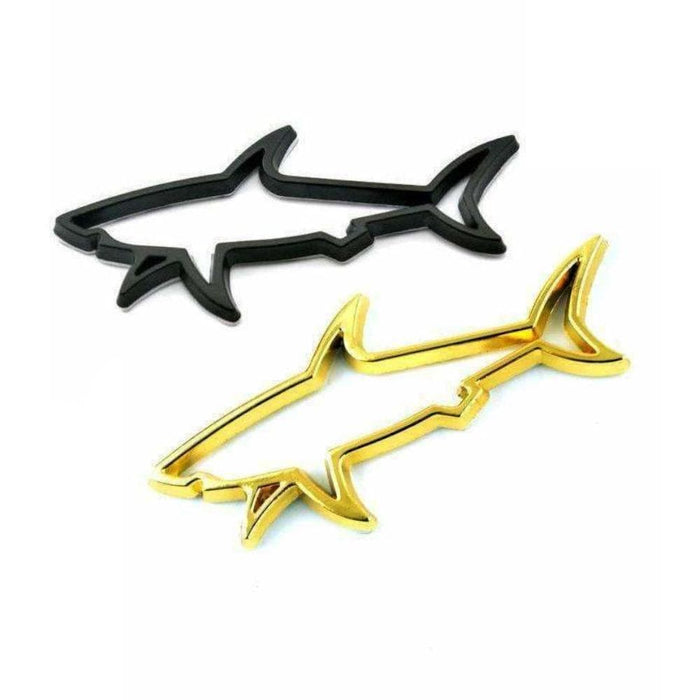 Hollow Shark Metal Emblem Sticker