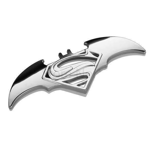 Superman Batman Silver Emblem Sticker