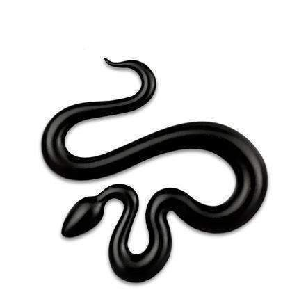 UNIVERSAL Winding Snake Black Emblem Sticker Emblems Stickers