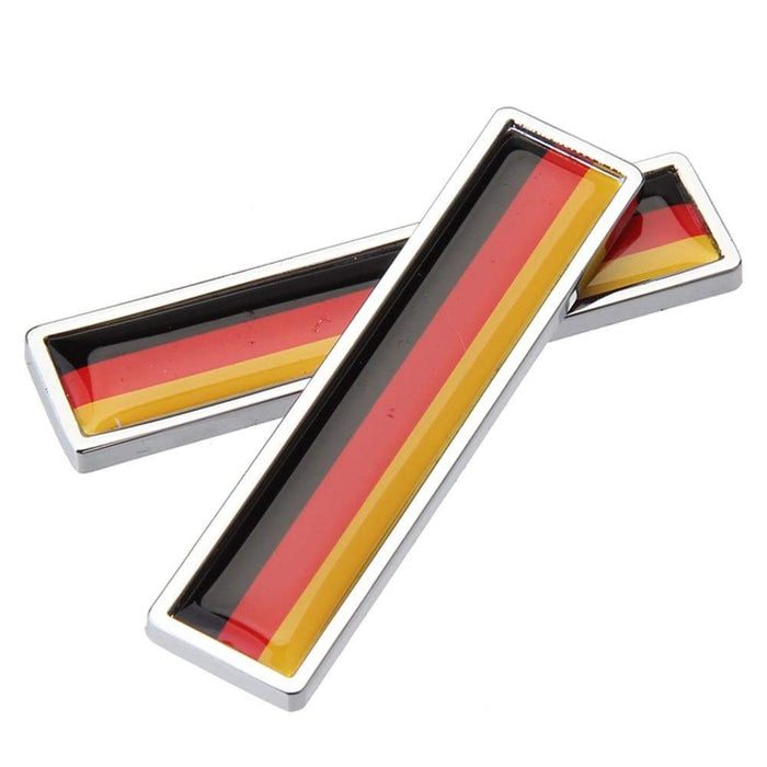 UNIVERSAL 2pcs Flag Emblem Metal Stickers Emblem Stickers Germany
