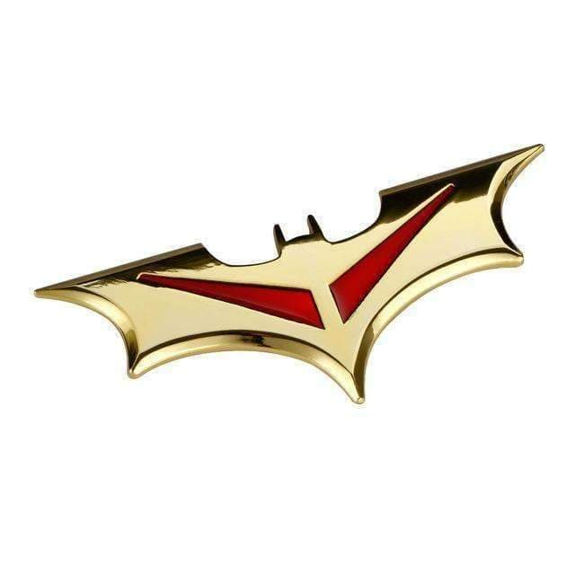 UNIVERSAL Batman Metal Emblem Sticker Emblems Stickers Gold