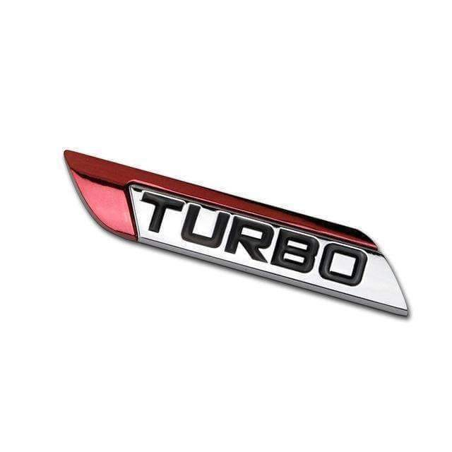 UNIVERSAL TURBO Right/ Left Emblem Sticker Emblems Stickers red left