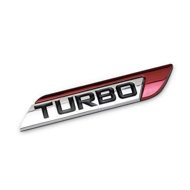 UNIVERSAL TURBO Right/ Left Emblem Sticker Emblems Stickers red right