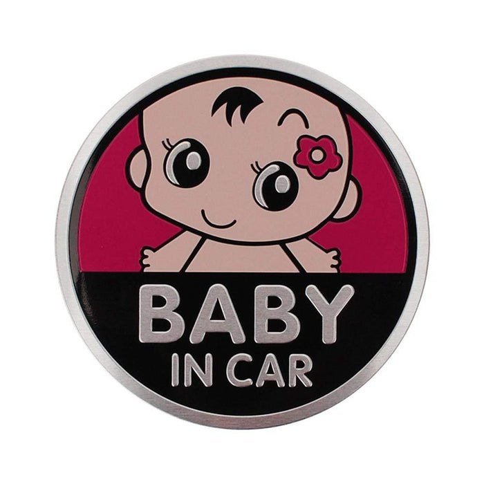 UNIVERSAL Baby In Car Multicolor Trunk Emblem Sticker Trunk Emblem