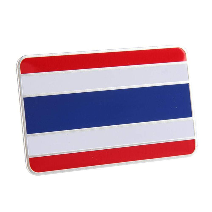 UNIVERSAL Thailand National Flag Trunk Emblem Sticker Trunk Emblem