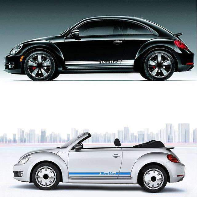 2pcs Beetle Door Stickers for Volkswagen
