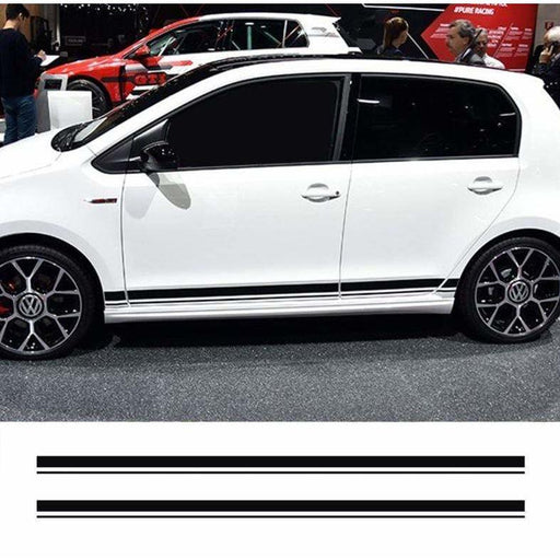2pcs Volkswagen Golf Polo Side Door Stripes Stickers