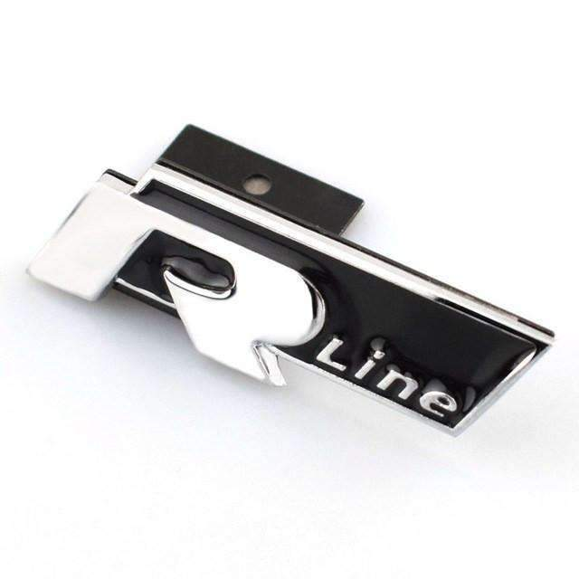 VOLKSWAGEN R-Line Hood Grille Badge Sticker for Volkswagen - Black Emblems for Grille
