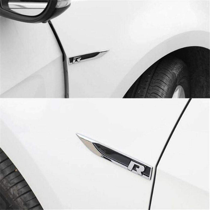VOLKSWAGEN 2pcs R Line Emblem for Volkswagen Emblems Stickers