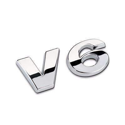 Big V6 Metal Emblem for Volkswagen