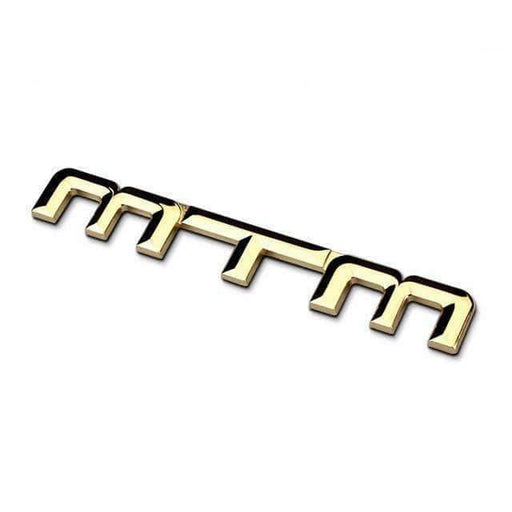 Gold MTM Metal Emblem Sticker for Volkswagen