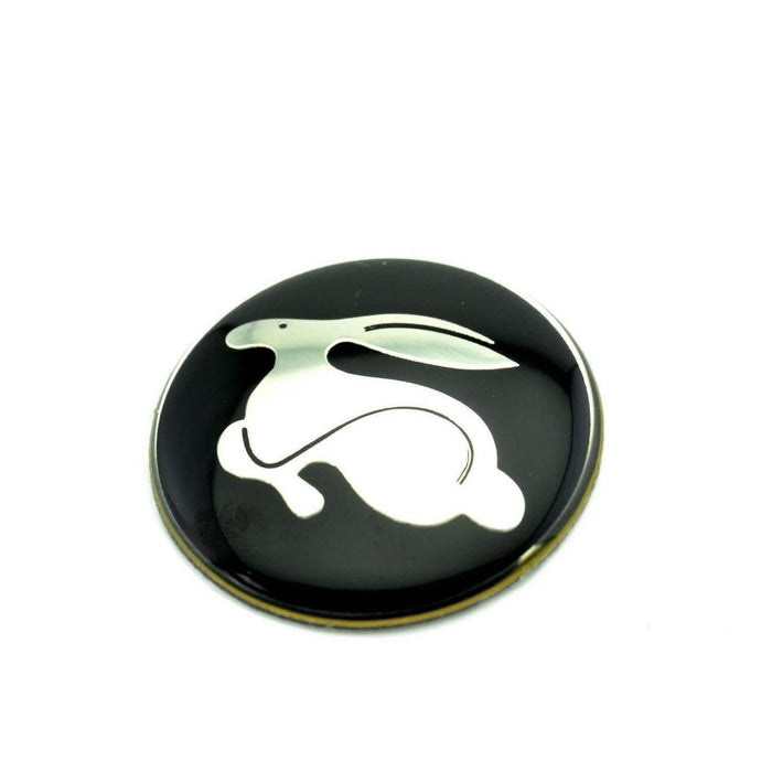 VOLKSWAGEN Rabbit Racing 45mm Steering Wheel Badge Sticker For Volkswagen Emblems Stickers