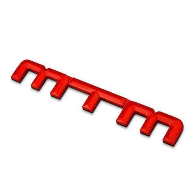 VOLKSWAGEN Red MTM Metal Emblem Sticker for Volkswagen Emblems Stickers