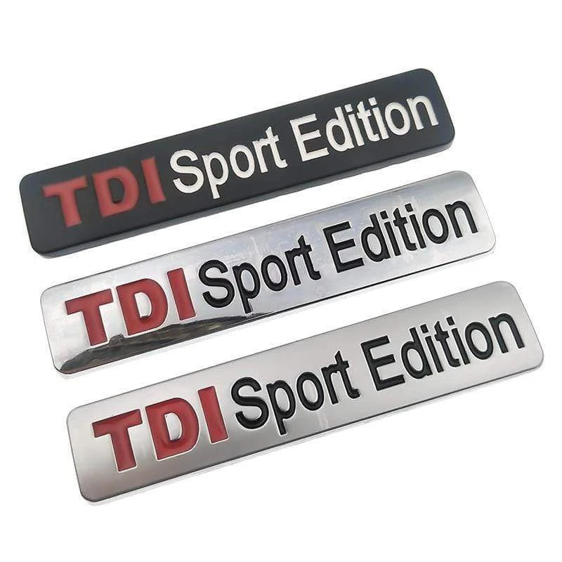VOLKSWAGEN TDI Sport Edition Emblem Sticker for Volkswagen Emblems Stickers