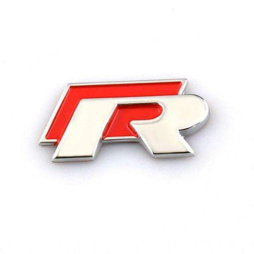 VW R Emblem Sticker for Volkswagen - Red
