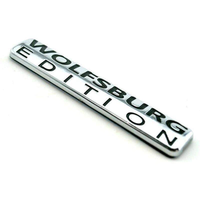 VOLKSWAGEN WOLFSBURG EDITION Rear Badge Emblem for VW Volkswagen [Silver, ABS, Sticker] Emblems Stickers