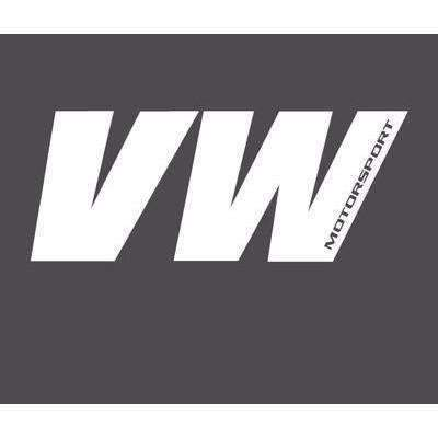 VW Motorsport Vinyl Sticker Decal for Volkswagen White