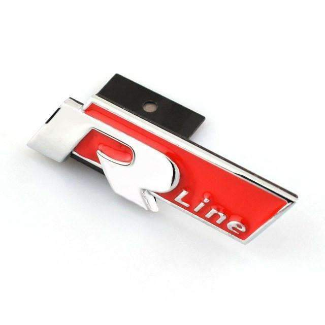 VOLKSWAGEN R-Line Hood Grille Badge Emblem for Volkswagen Emblems for Grille Red