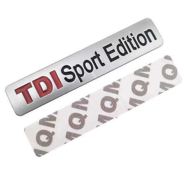 VOLKSWAGEN TDI Sport Edition Emblem Sticker for Volkswagen Emblems Stickers Silver Matt