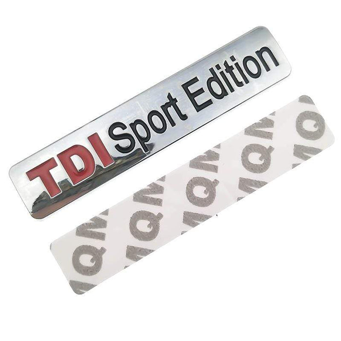 VOLKSWAGEN TDI Sport Edition Emblem Sticker for Volkswagen Emblems Stickers Silver Shiny