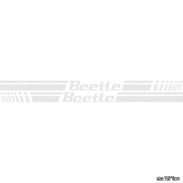 2pcs Beetle Door Stickers for Volkswagen White