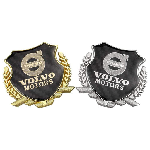 Volvo Motors Carbon Shield Logo Emblem