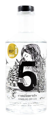 5 Continents Hamburg Dry Gin 47% vol 0.7l - GinFriends