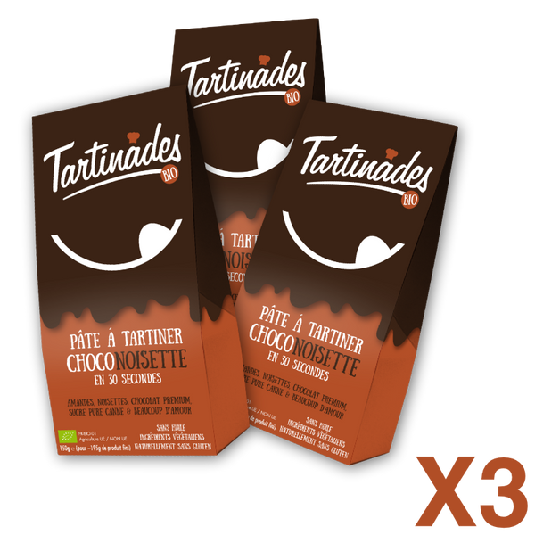 Pack 3 Tartinades Choconoisette